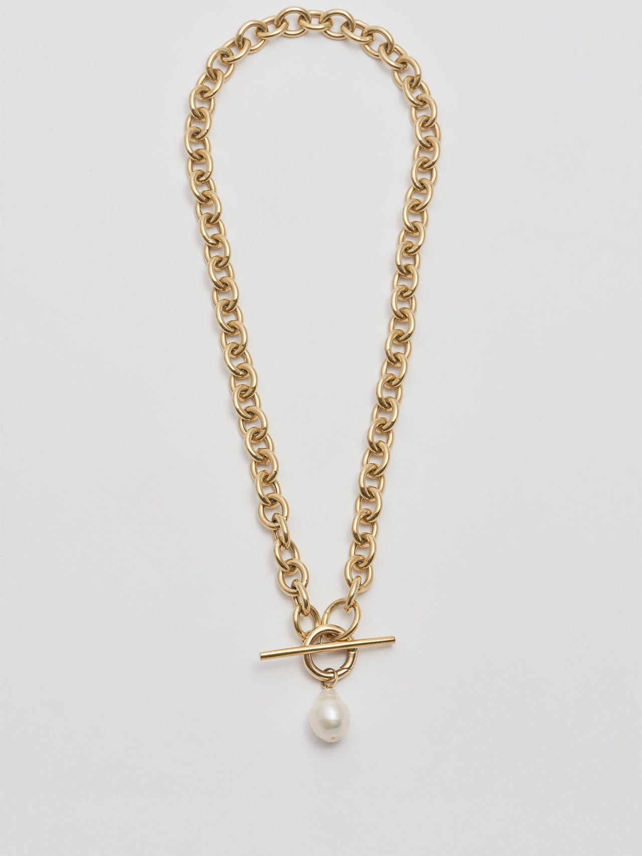 XL Pearl Toggle Necklace