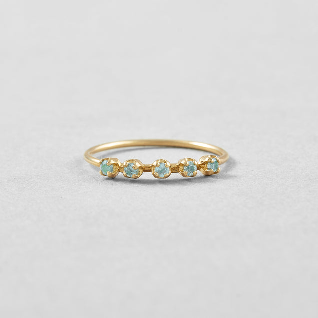 Blue Topaz Cinq Ring