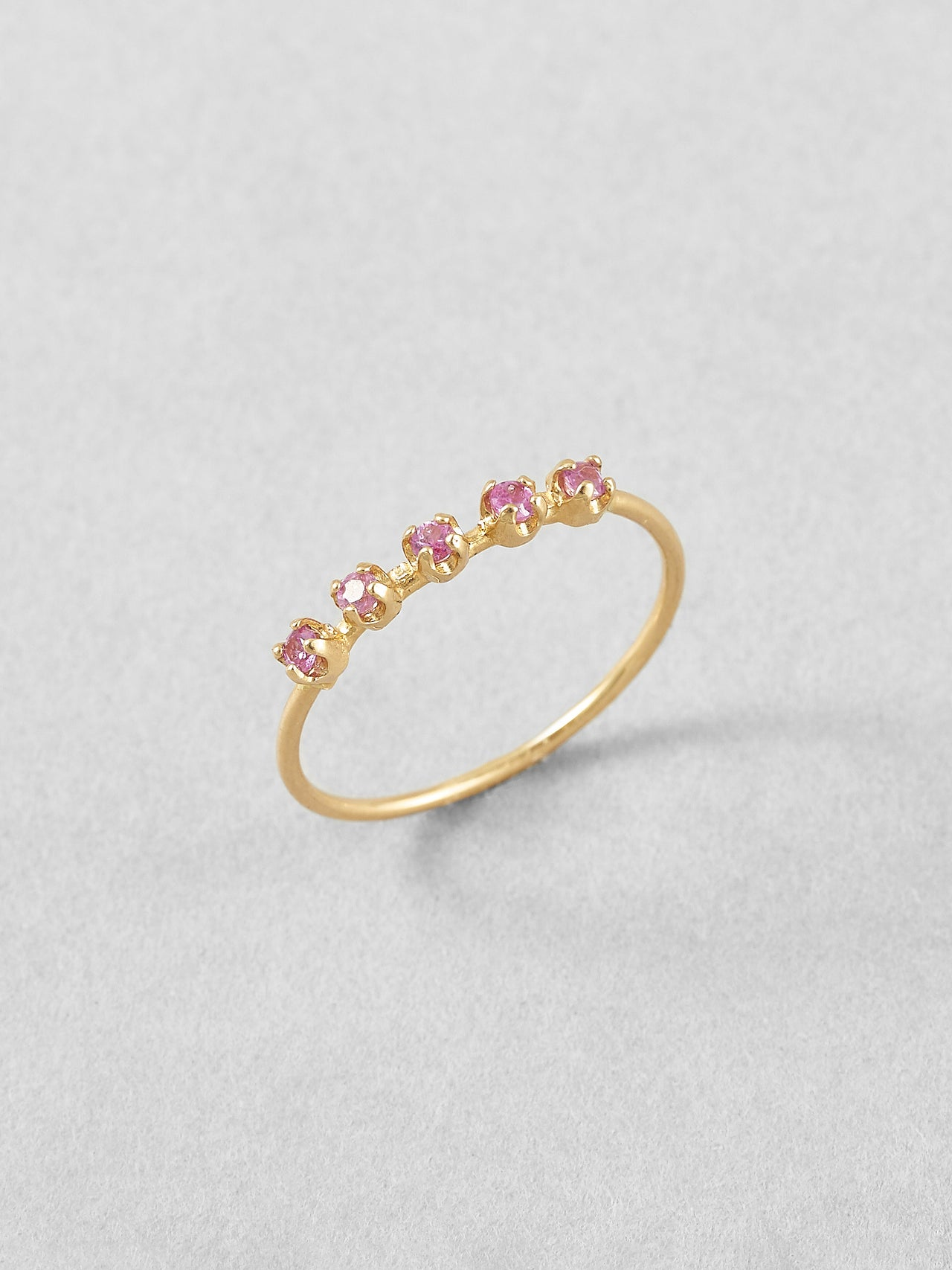 Pink Sapphire Cinq Ring