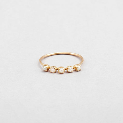 Diamond & Pearl Cinq Ring