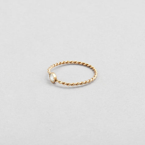 Diamond Petite Rope Ring