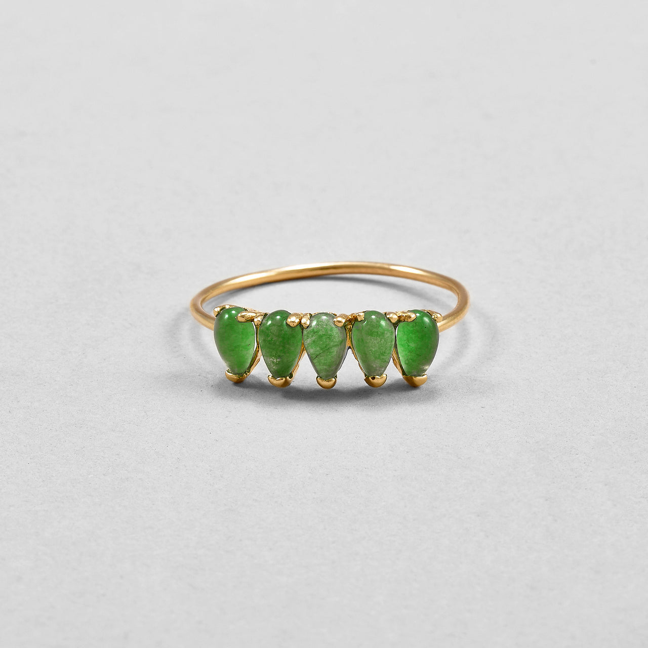 Jade Teardrop Ring