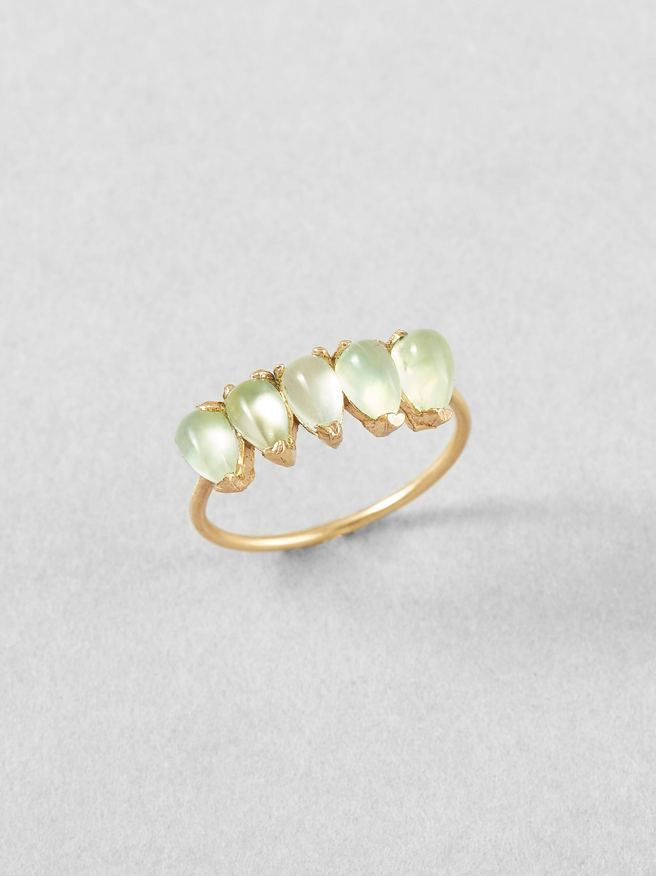 Prehnite Teardrop Ring