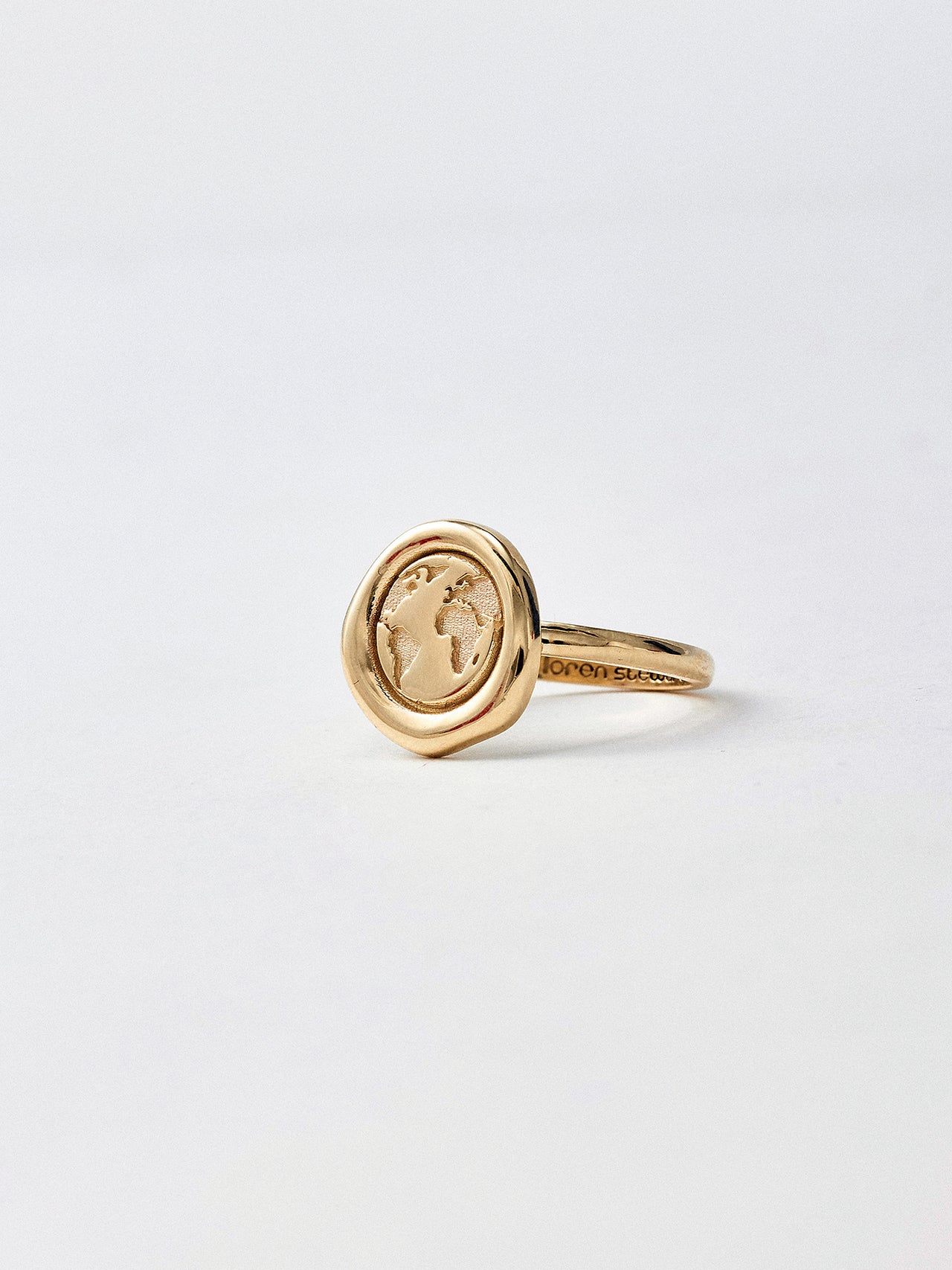 Gold Melt Earth Ring
