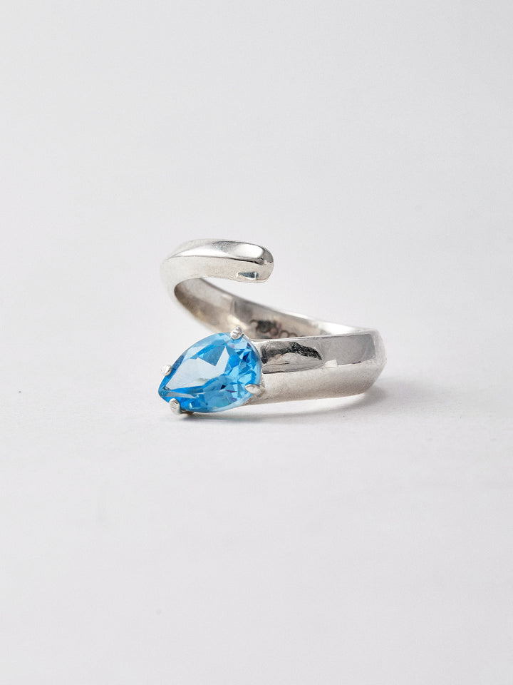 Blue Topaz Trance Ring