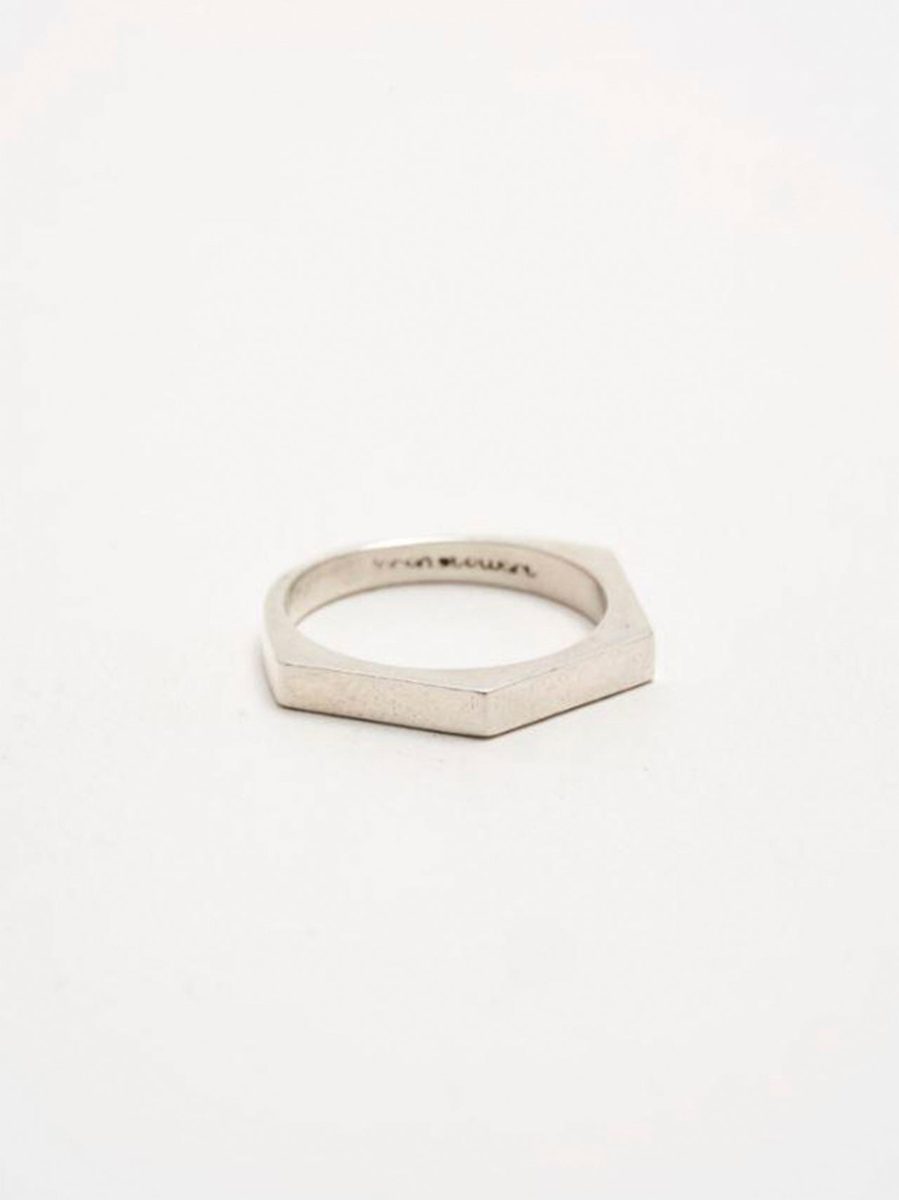 Sterling Silver Half Hex Ring