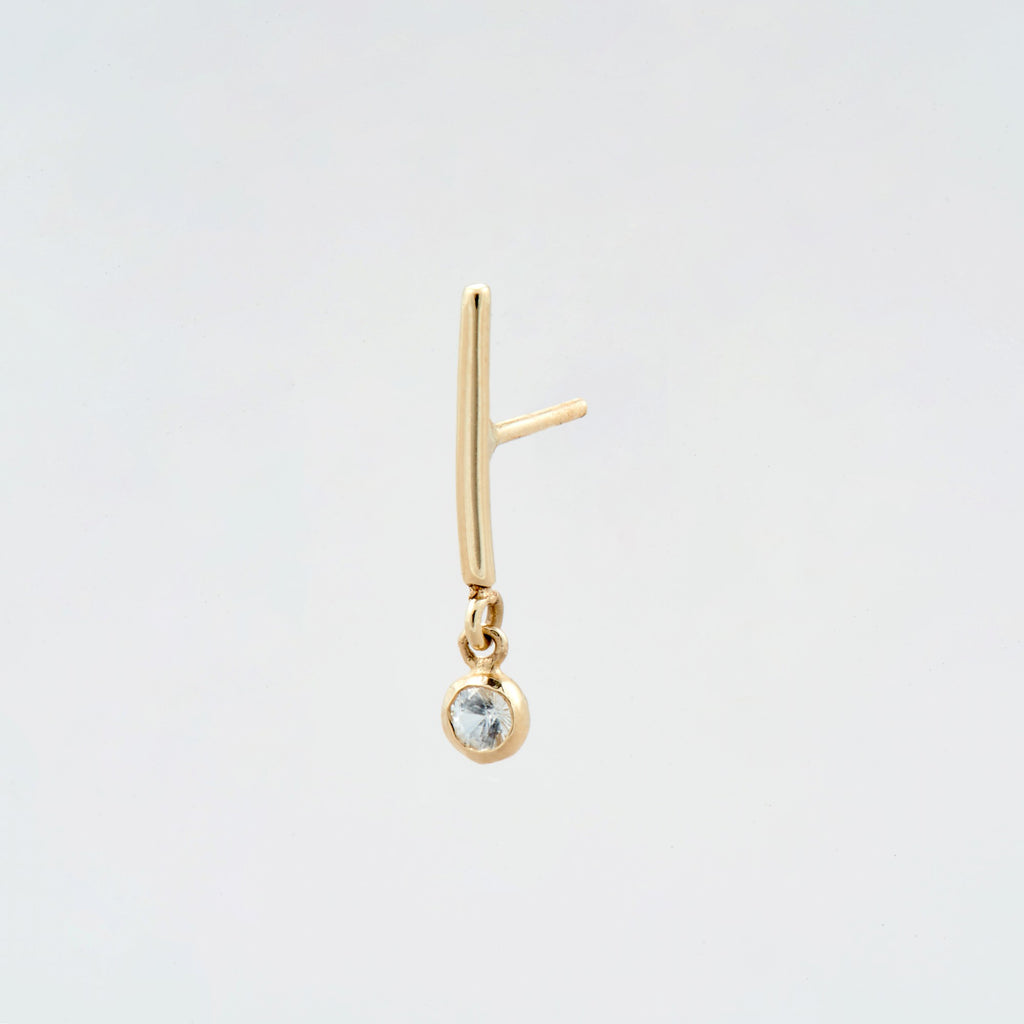 coil rod double earrings brass wire and