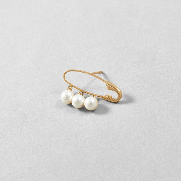 Triple Pearl Safety Pin