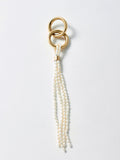 Pearl Tassel Linked Hoops