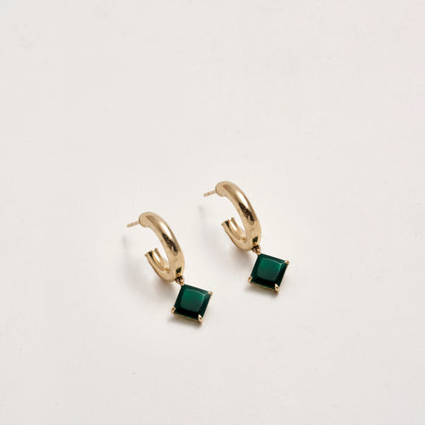 GREEN AGATE MELROSE HOOPS