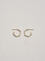 Diamond Hex Hoops