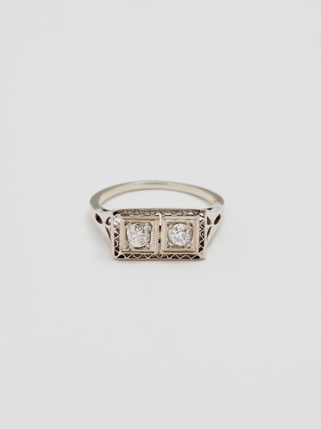 Vintage Twin Diamond Ring
