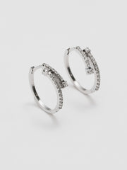 Vintage Diamond Hoop Earrings