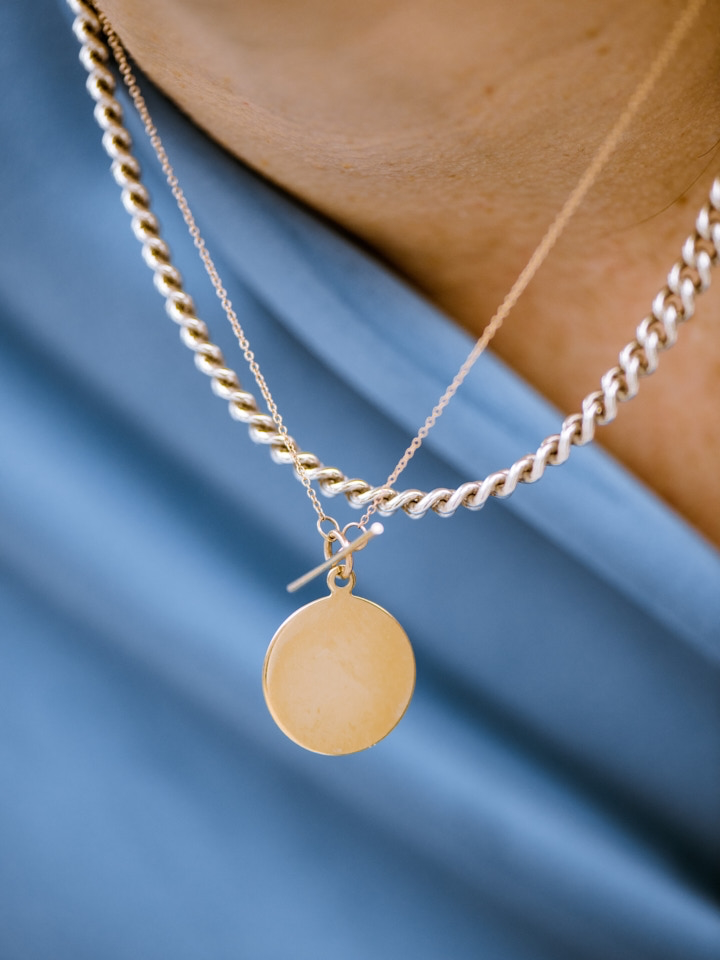 Disk & Toggle Necklace
