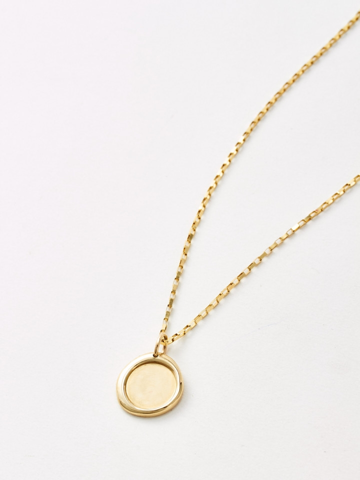 Gold Melt Pendant Necklace