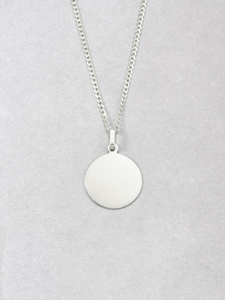 Sterling Silver Disk Pendant