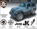 2007-2018 Jeep JK  Wrangler Hood Decal