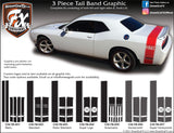 "2009- 2014 Dodge Challenger Trunk Band Complete Graphic Kit ""Left & Right Sides"""