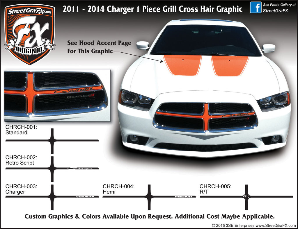 2011-2014 Dodge Charger Grill Cross Hair Graphic