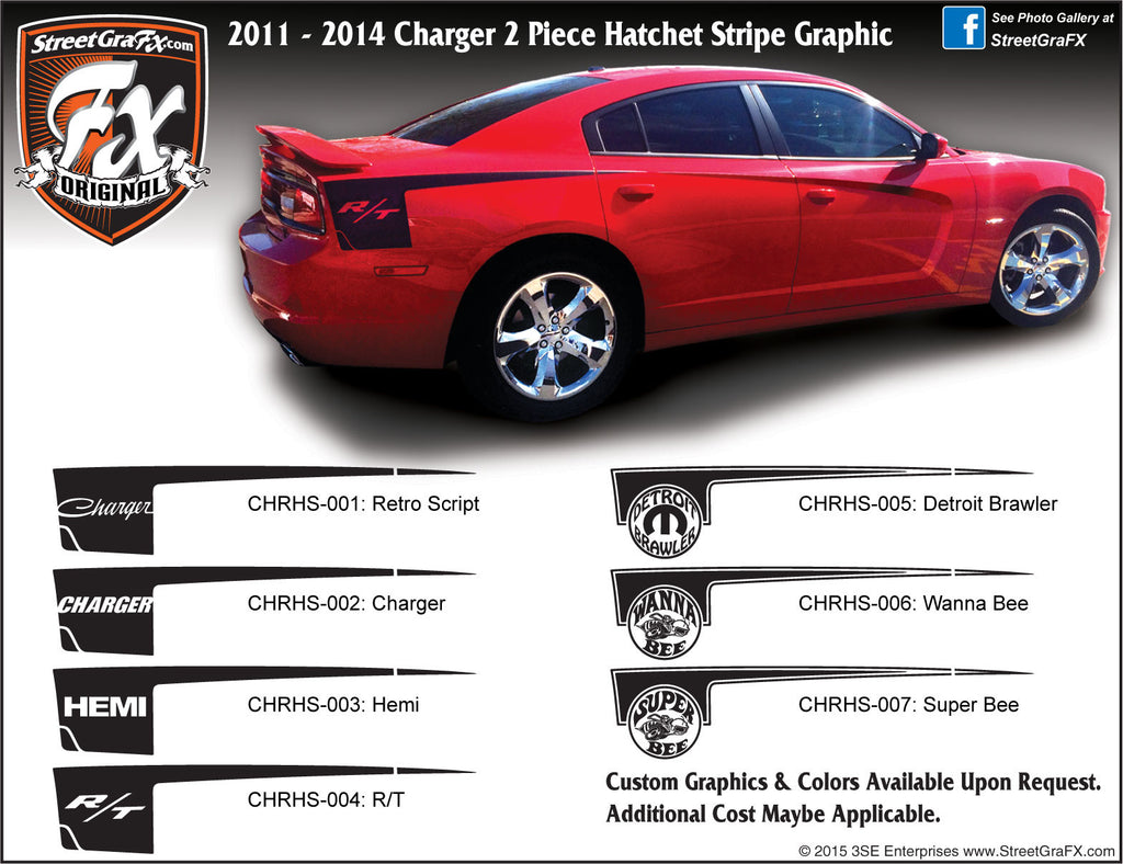 "2011-2014 Dodge Charger Hatchet Complete Graphic Kit ""Left & Right Sides"""