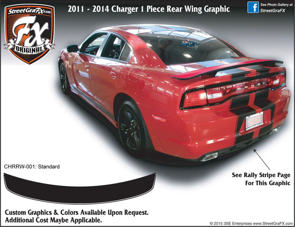 2011-2014 Dodge Charger Rear Wing Graphic