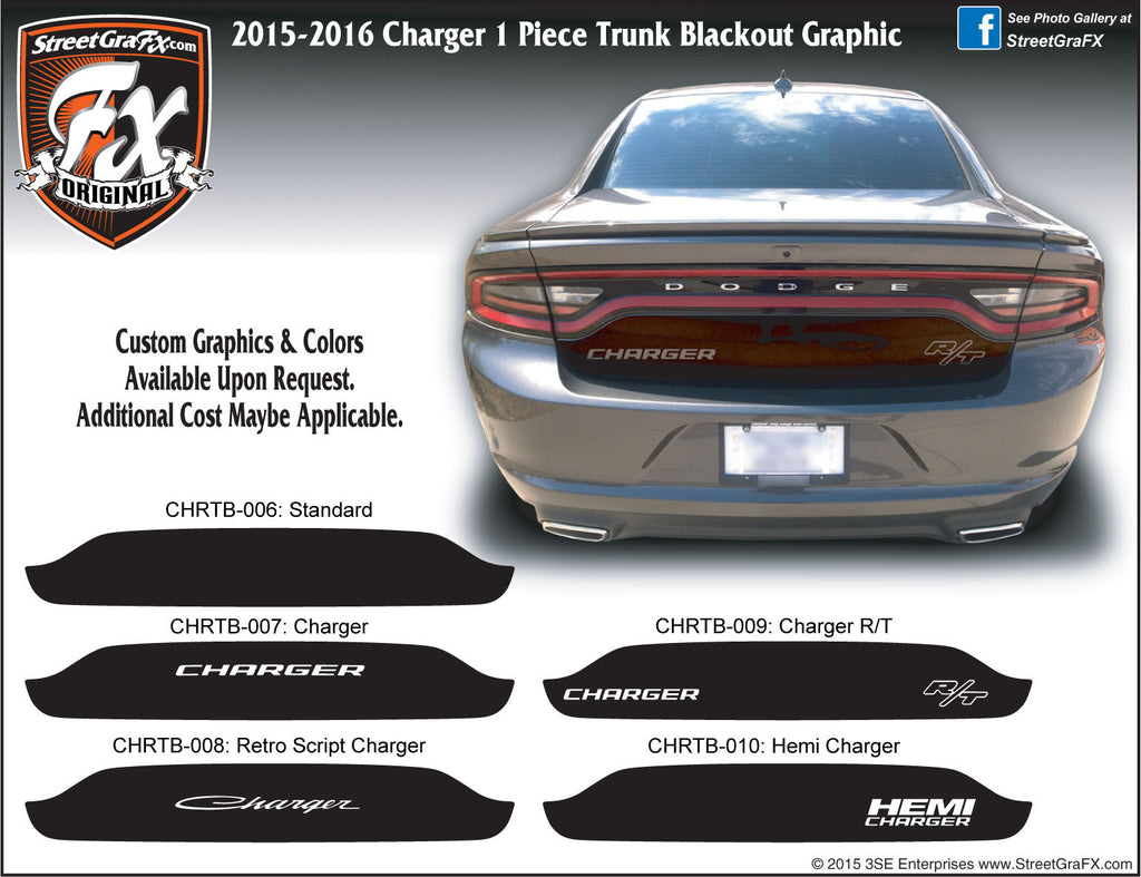 2015 - 2019 Dodge Charger Trunk Blackout Graphic
