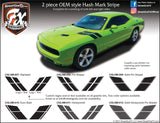"2015-2021 Dodge Challenger RT Style  Hash Mark Complete Graphic Kit ""Left & Right Sides"""
