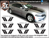 "2015-2019 Dodge Charger Hash Mark Complete Graphic Kit ""Left & Right Sides"""