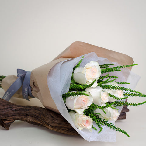 - Valentine's Wrapped Bouquet - Pastel - Bloom Couture - 1