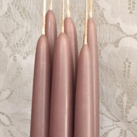 "1/2""D x 6""H, Classic Tapers, 6 pair (12 singles), 24 colours, fragrance free - Fanny Bay Candle Company"