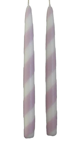 "7/8""D x 10""H, Swizzles - Dual Colour Tapers, 2 package sizes, 16 colour patterns, fragrance free - Fanny Bay Candle Company"