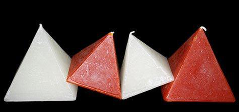 "Pyramid, Solid Colour, 3 1/2 x 3 1/2""H, 4 1/2 x 4 1/2""H or 6 x 6""H, Scented"