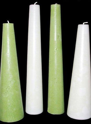 Cone Candles, 25 solid colours & 3 sizes, fragrance free - Fanny Bay Candle Company