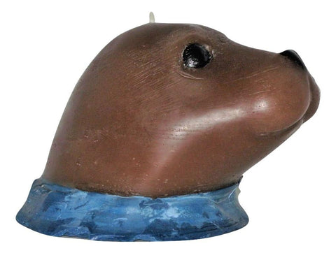 "George the Sea Lion, 2 colour patterns, 6 3/4""L x 5""W x 4 1/2""H, fragrance free only - Fanny Bay Candle Company"
