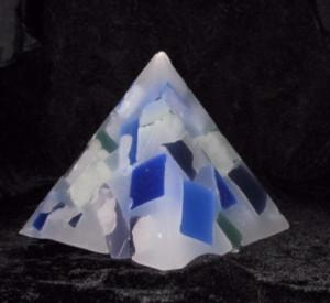 Pyramid, Chunky Glimmers, 3 sizes, 6 colour patterns, fragrance free - Fanny Bay Candle Company