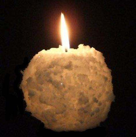 "Snowball, 3""D x 3""H, Fragrance Free Only - Fanny Bay Candle Company"