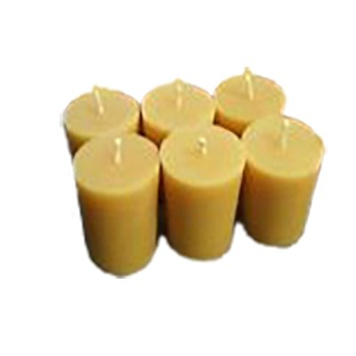 Beeswax Votive candles, 6 pkg, 20 hour burn