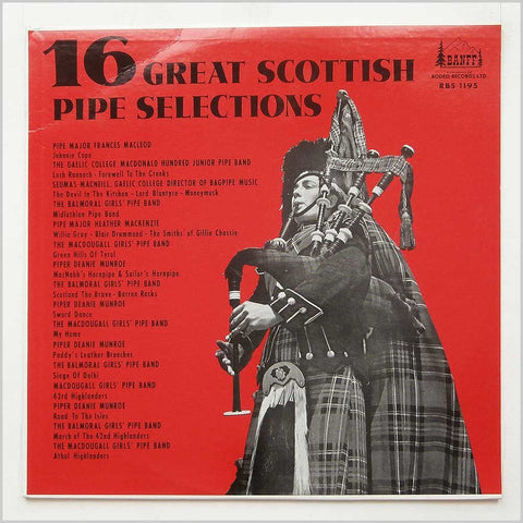 16 Great Scottish Pipe Selections -1966? Military, Pipe & Drum (vinyl)