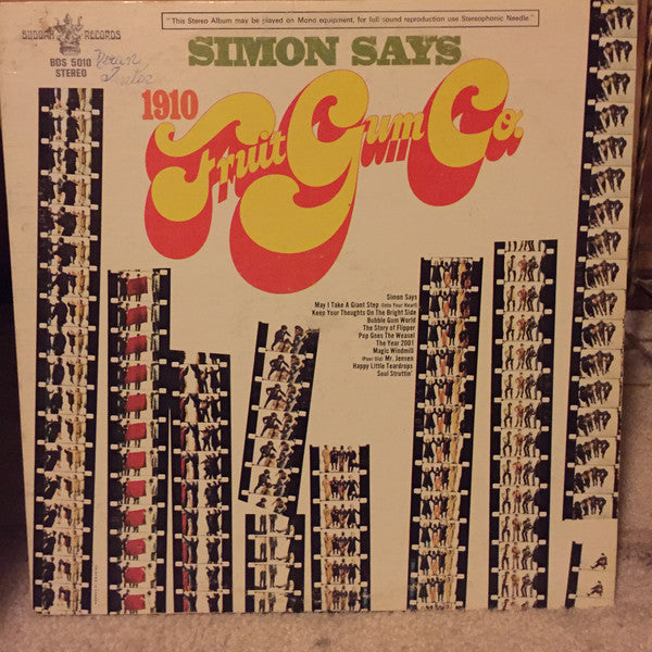 1910 Fruitgum Company ‎– Simon Says -1968- Bubblegum (vinyl)