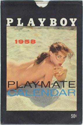 1958 Playboy - Playmate Calendar w/ packaging -3 months missing