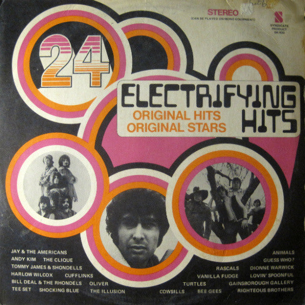 24 Electrifying Hits -1969- Vanilla Fudge, Turtles, Guess Who,  Bee Gees + (vinyl)