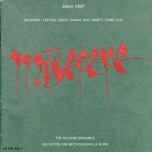 Arvo Part -Miserere CD