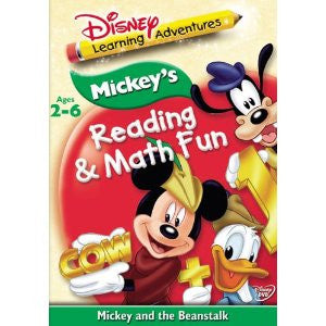 Learning Adventures: Mickey And The Beanstalk (Bilingual) DVD - Near Mint (Disney)