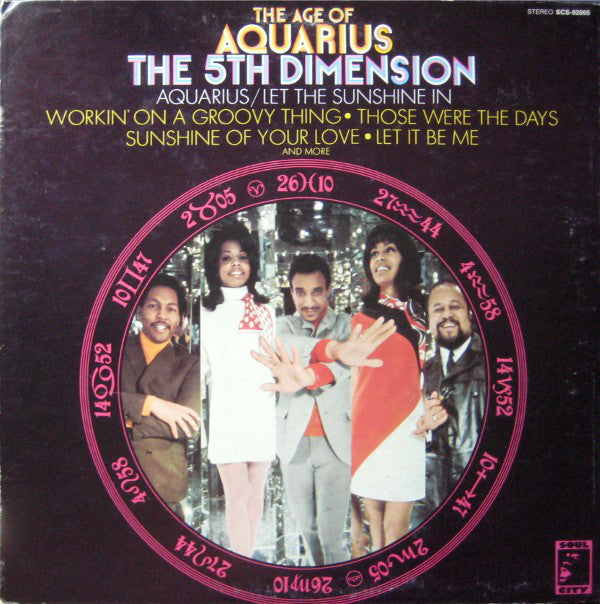 5th Dimension ‎– The Age Of Aquarius -1969- funk  /  soul (Clearance Vinyl)