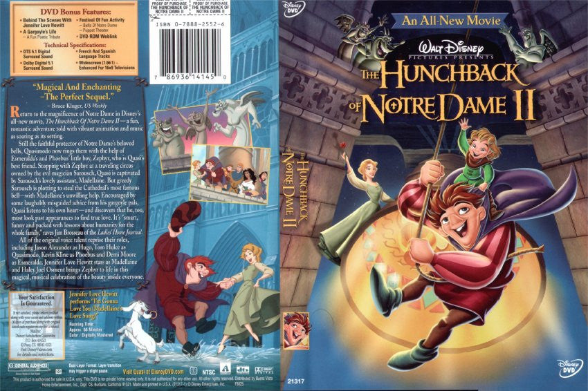 Hunchback of Notre Dame II , The (Bilingual) Dvd Used Mint