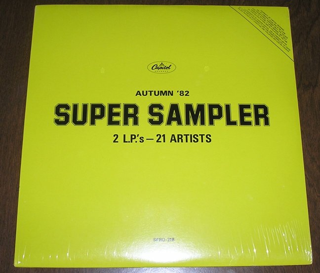 Autum '82 Super Sampler Capitol Records- 2 lps -21 artists ~RUSH , APRIL WINE , BILLY IDOL , SHERIFF + (vinyl)