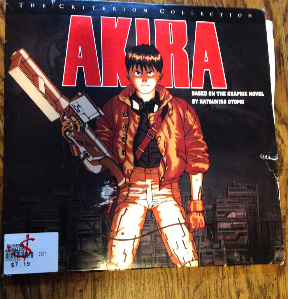 Akira -The Criterion Collection Laserdisc - Based on Novel by Katsuhiro Otomo