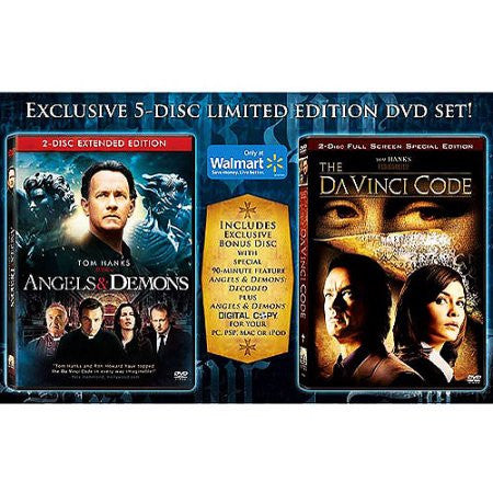Angels & Demons / The Da Vinci Code (Bilingual) New sealed 5 disc set ( Walmart Exclusive Offer)