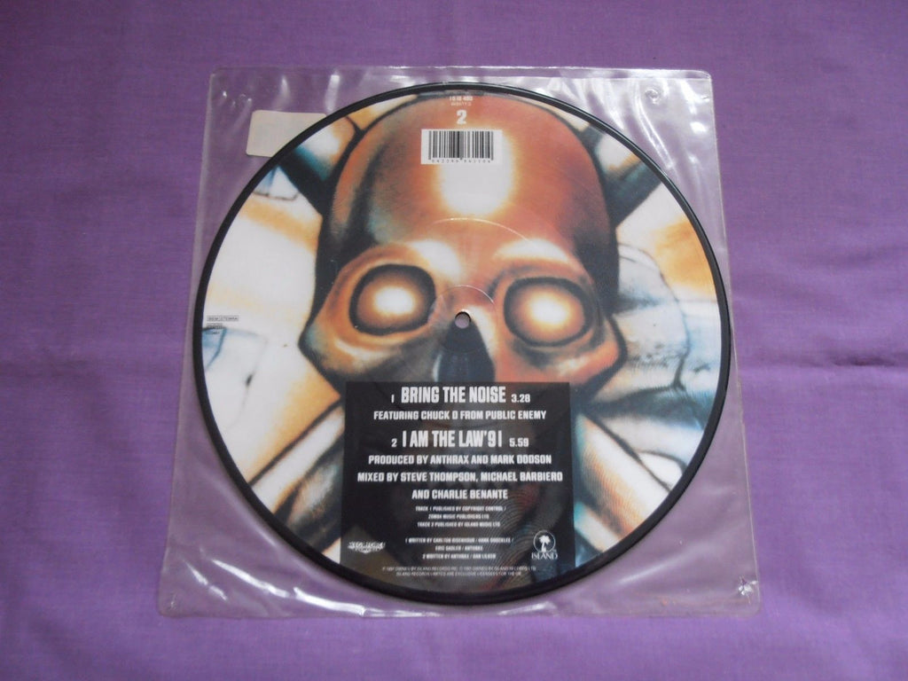 "Anthrax - Bring The Noise 10"" Picture Disc 1991 Island"