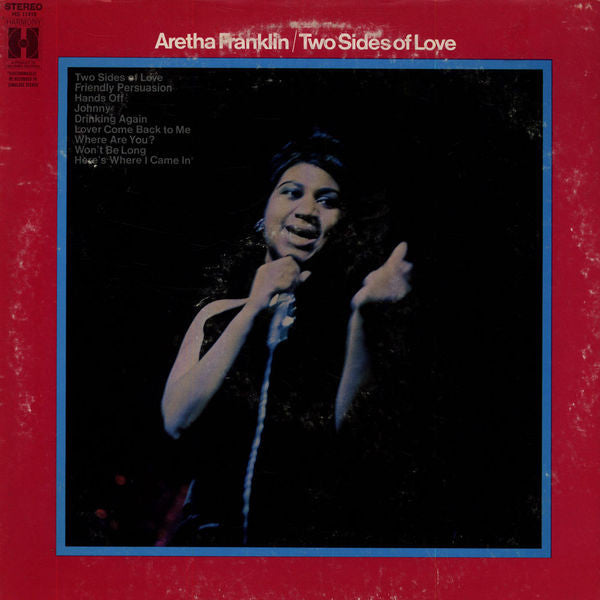 Aretha Franklin ‎– Two Sides Of Love -1970- Funk / Soul, Blues (Rare vinyl)